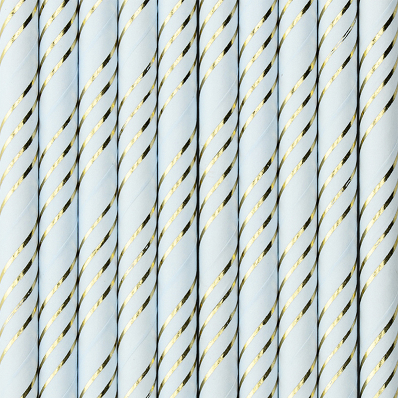 Party Deco® Papirnate Slamice Light Blue 10 kos