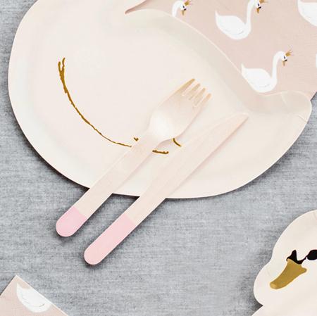 Slika Party Deco Lesen pribor Light Pink 18 kos