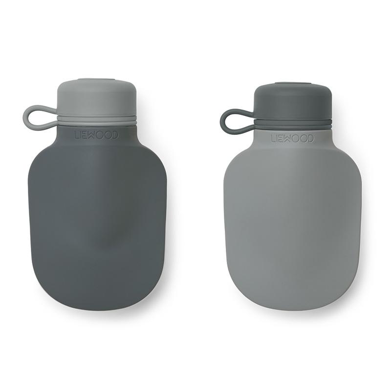 Liewood® Silikonska steklenička Smoothie Silvia 2 kosa Blue Mix