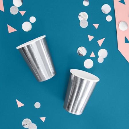 Party Deco® Kozarčki Silver 6 kos
