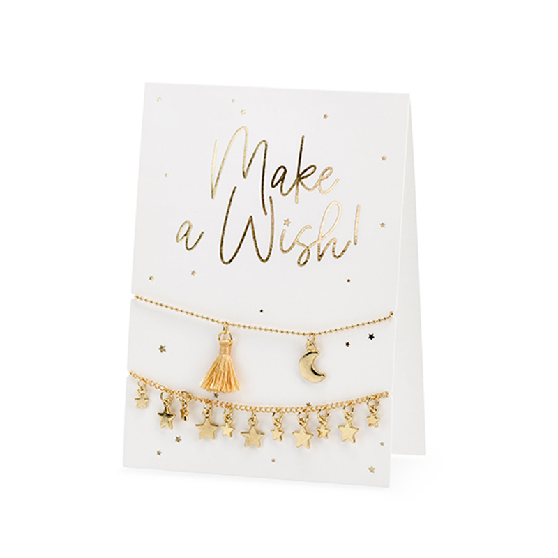 Party Deco® Voščilnica z zapestnicami Make a Wish