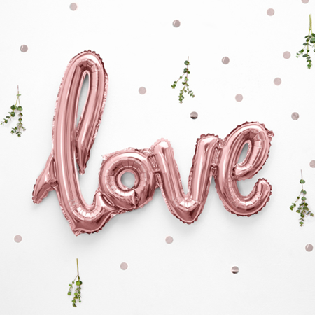 Party Deco® Balon Love Rose Gold