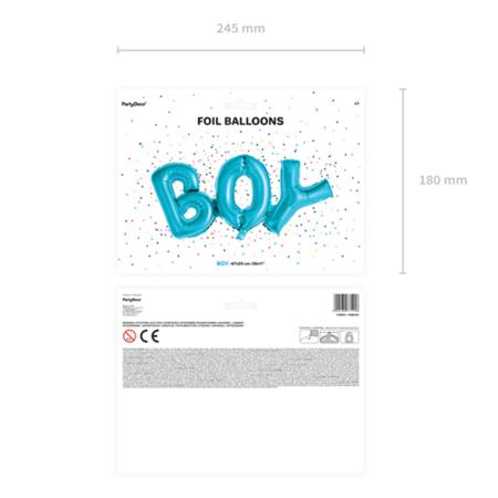 Party Deco® Balon v obliki napisa Boy Blue