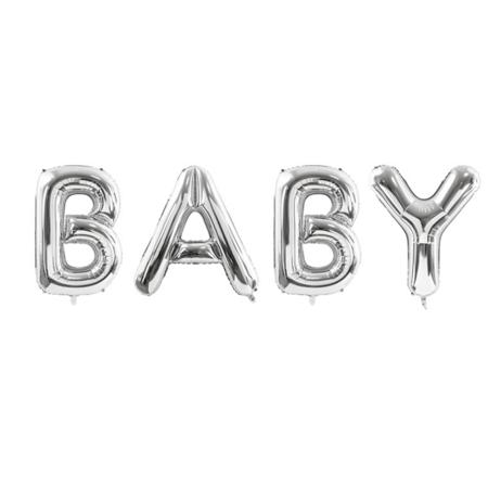 Slika Party Deco® Baloni Baby Silver