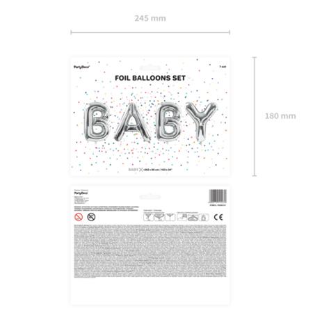 Party Deco® Baloni Baby Silver