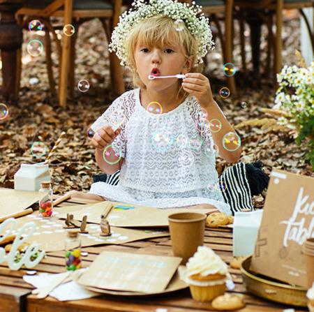 Party Deco® Milni mehurčki Heart White