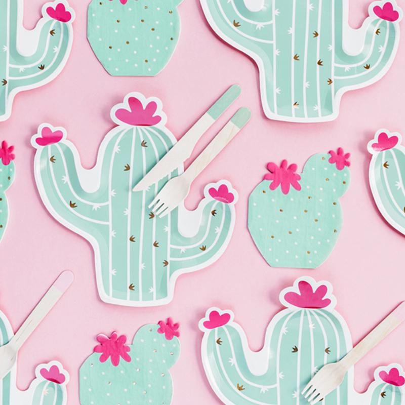 Party Deco® Troslojne Serviete Kaktus 20 kos