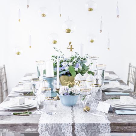 Party Deco® Troslojne Serviete Light Sky Blue 20 kos
