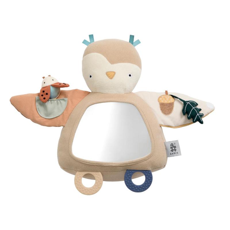 Sebra® Aktivnostna ogledalo Blinky Owl Maple Beige