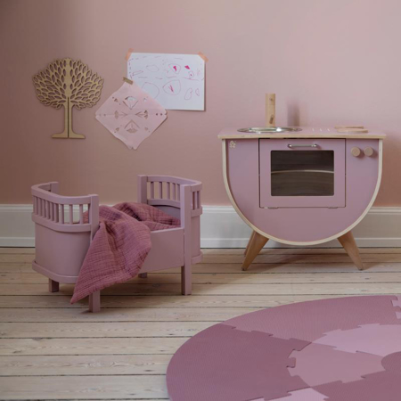 Sebra® Lesena otroška kuhinja Blossom Pink