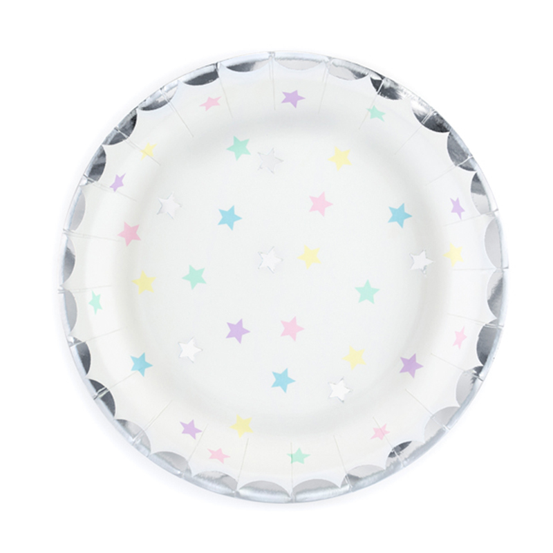 Party Deco® Krožnički Samorog- Zvezde  6 kos