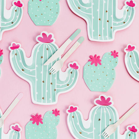 Party Deco® Papirnati krožniki Kaktus 6 kos