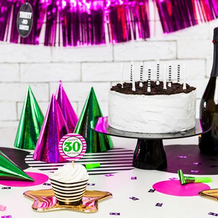 Party Deco® Svečke Pikice in Črtice 6 kos