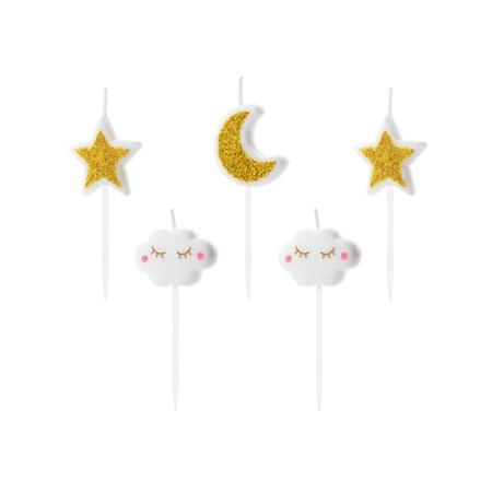 Slika Party Deco® Svečke Mala Zvezdica 6 kos