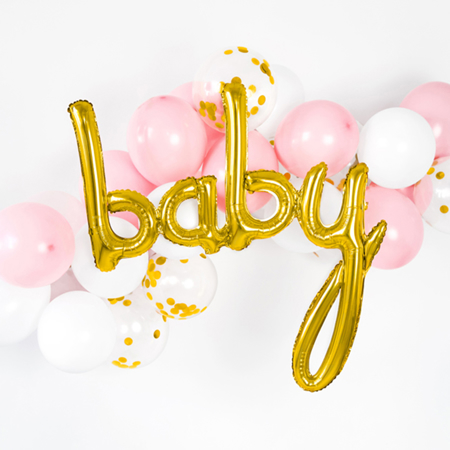 Party Deco® Balon Baby  Gold