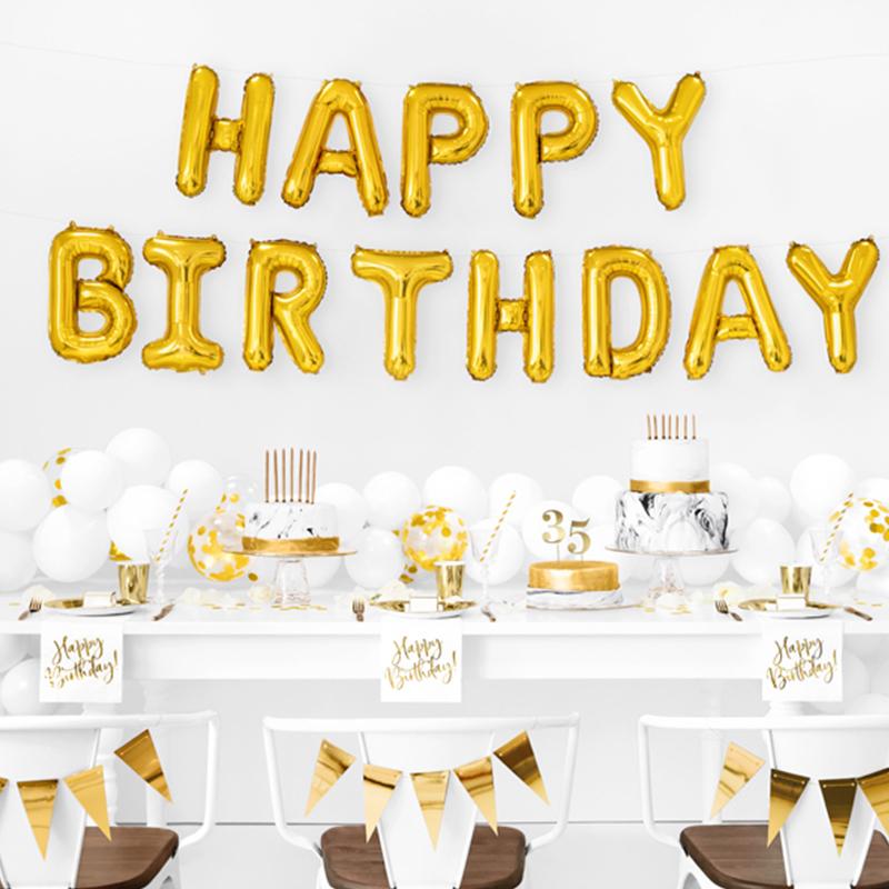 Party Deco® Baloni Happy Birthday Gold