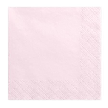 Party Deco® Troslojne Serviete Powder Pink 20 kos