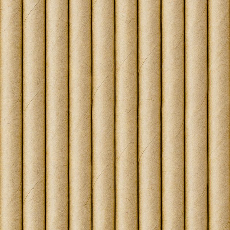 Party Deco® Papirnate Slamice Kraft 10 kos