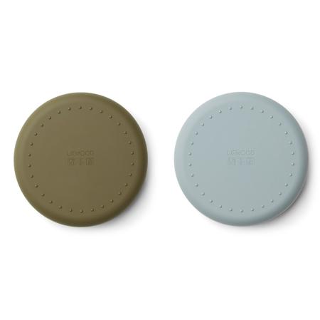 Liewood® Komplet silikonskih krožnikov Gordon Mr bear blue fog/khaki mix