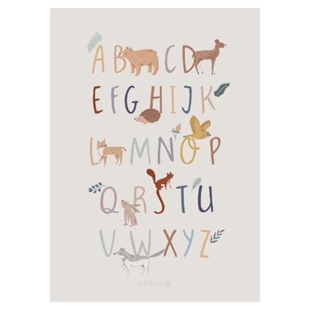 Sebra® Plakat z abecedo A-Z Nightfall