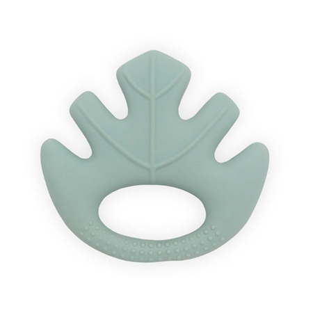 Slika Jollein® Grizalo iz 100% naravne gume Leaves Ash Green