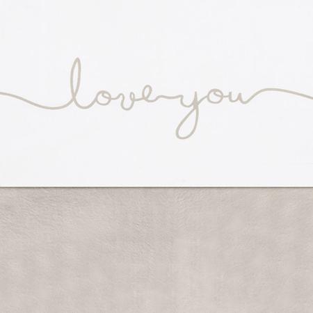 Jollein® Bombažna rjuha Love you Nougat 150x120