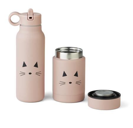 Slika Liewood® Set termo posodice in termo stekleničke Marlow Cat Rose