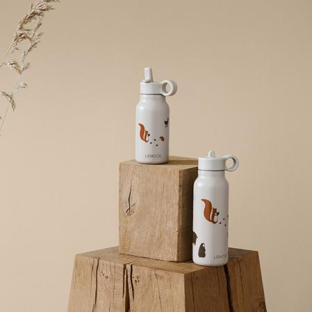 Liewood® Pokrovček s slamico in krtačko za stekleničko Falk 350ml Rose