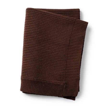 Slika Elodie Details® Pletena volnena odejica Chocolate 75x100