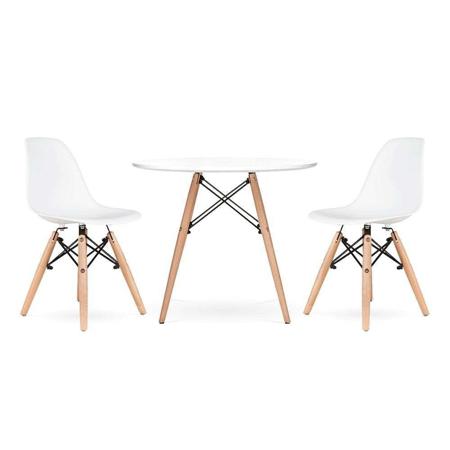 Slika EM Furniture Set mizica in 2 stola White