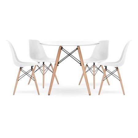 Slika EM Furniture Set mizica in 4 stoli White