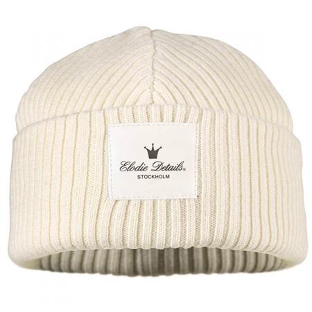 Elodie Details® Volnena kapa Vanilla White  0-6 M