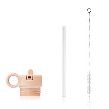 Slika Liewood® Pokrovček s slamico in krtačko za stekleničko Falk 350ml Peach