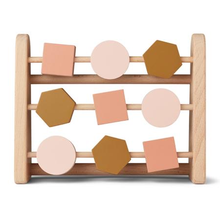 Slika Liewood® Leseno računalo Abacus Geometric Rose Multi Mix