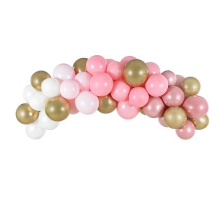 Party Deco® Lok iz balonov Pink 60 kos
