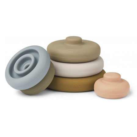 Liewood® Obročki za zlaganje Dag Khaki Multi Mix