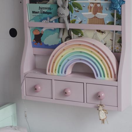 Little Lights® Ročno izdelana lesena lučka Rainbow Pastel