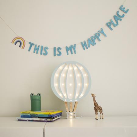 Little Lights® Ročno izdelana lesena lučka Hotairbaloon Blue Sky