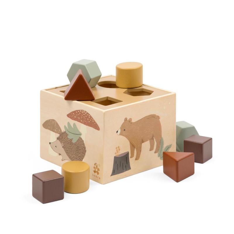Sebra® Lesena kocka z oblikami Nightfall