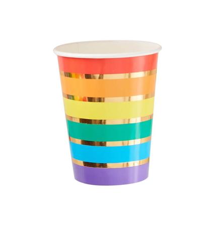 Slika Ginger Ray® Papirnati kozarčki Rainbow Gold 8 kosov