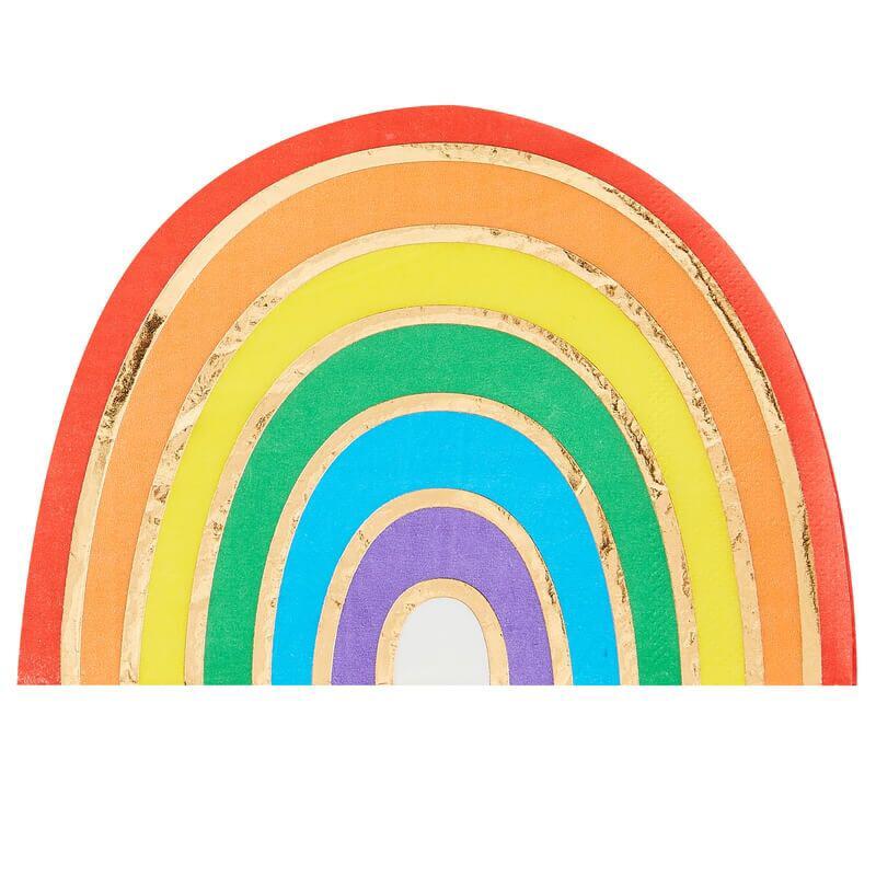 Ginger Ray® Papirnate serviete Rainbow Gold 16 kosov