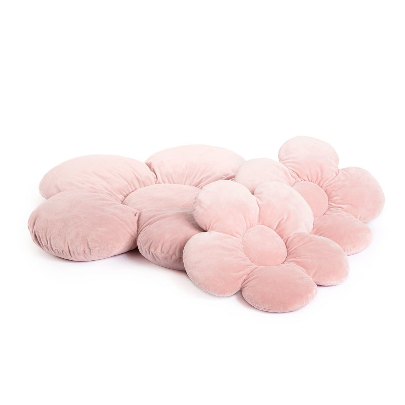 Kidkii® Set 3 vzglavnikov Flower Velvet Pink
