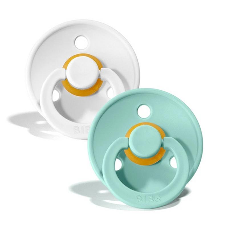 Bibs® Duda White & Mint 1 (0-6m)