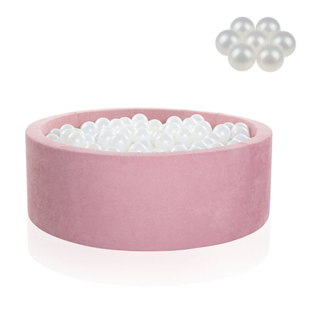 Slika Kidkii® Okrogel Rose Bazen s kroglicami Pearl 90x40