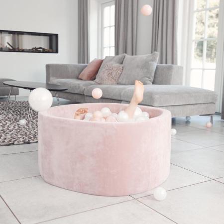 Kidkii® Okrogel Rose Bazen s kroglicami Pearl 90x40