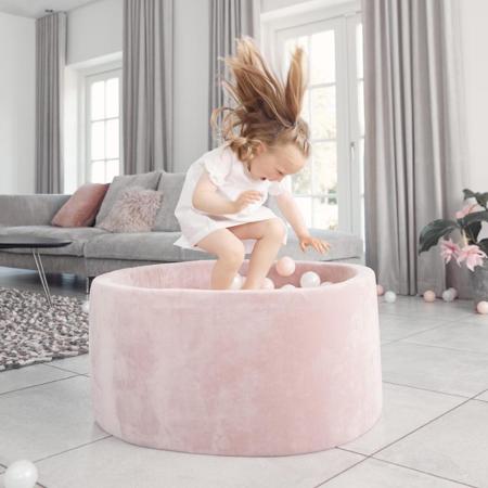 Kidkii® Okrogel Rose Bazen s kroglicami Pink 90x40