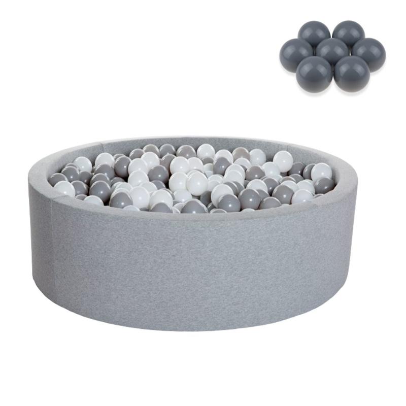 Kidkii® Okrogel Grey Bazen s kroglicami Grey 90x40