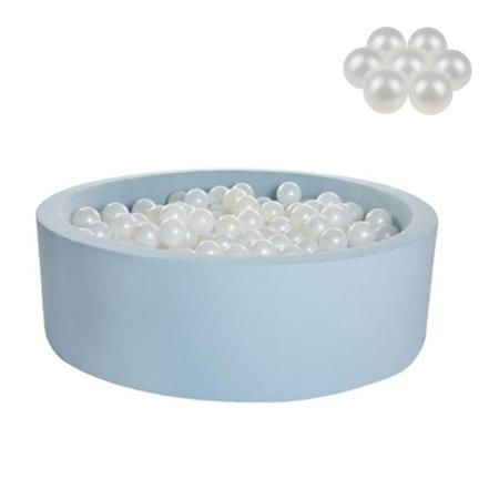 Slika Kidkii® Okrogel Blue Bazen s kroglicami Pearl 90x30