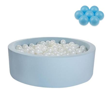 Slika Kidkii® Okrogel Blue Bazen s kroglicami Blue 90x30