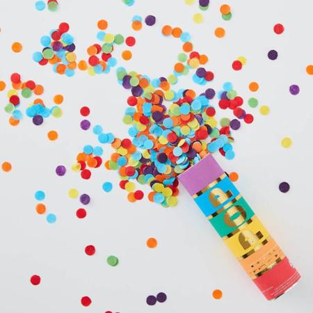Ginger Ray® Strelec konfetov Over the Rainbow